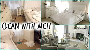 White Bedroom Furniture Cleaning Clean With Me Bedroom U0026 Living Room Youtube