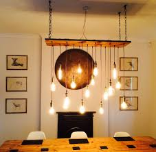 Lighting And Chandeliers Vintage Led Bulb Wood Chandelier Rustic Wood Bulbs And Chandeliers