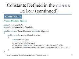 java programming from problem analysis to program design 4e
