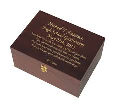 graduation memory box small wooden keepsake box personalized engraving