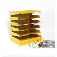 Desk Sorter Organizer Yellow Office Desk Mail Sorter Organizer Chairish