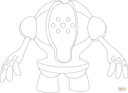 registeel pokemon coloring page free printable coloring pages