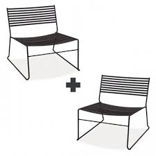 emu chaise lot de 2 chaises lounge aero jardinchic