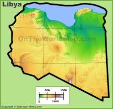 Map Of Benghazi Libya Physical Map