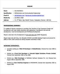 front end developer resume 10 web developer resume templates pdf doc free premium