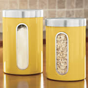 yellow canister sets kitchen canisters 4 sets kitchen seventh avenue