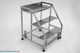 step ladder electropolished 304 stainless steel 3 step