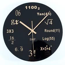 Modern Wall Clock Aliexpress Com Buy Algebra Formula Math Digital Modern Wall