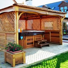 Wood Gazebo Design by Square Deck With Gazebo Plans Design Home Ideas