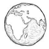sketch globe world map black vector illustration stock vector