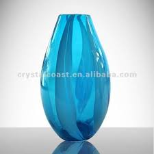 Large Vases Wholesale Wholesale Cheap Flower Shape Royal Blue Glass Vase Tall Wedding