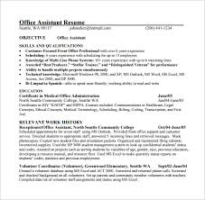Office Com Resume Templates Medical Assistant Resume Template U2013 8 Free Word Excel Pdf