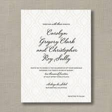 Marriage Invitation Sample Letterpress Patterned Wedding Invitation Sample In Taupe