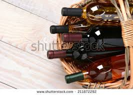 wine basket wine basket stock images royalty free images vectors