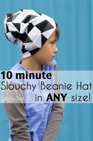 sew a beanie hat slouchy hat tutorial melly sews
