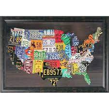map usa framed foster usa map embellished framed wall free shipping