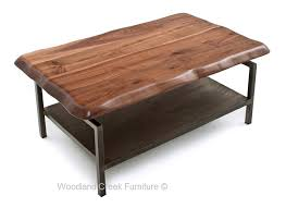 Coffee Table With Metal Base by Modern Industrial Coffee Table Metal Console Walnut
