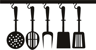 ustensiles de cuisines adhésif décoratif spatules et ustensiles de cuisine