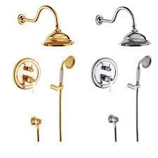 compare prices on designer bath taps online shopping buy low 2016 new design chrome gold bathroom rainfall single handle shower faucet set in wall