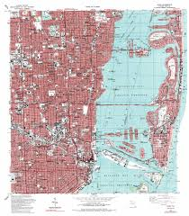 Little Havana Miami Map by Miami Topographic Map Fl Usgs Topo Quad 25080g2