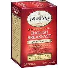 twinings of breakfast decaffeinated tea bags 20