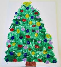 preschool crafts for kids christmas tree marshmallow painting