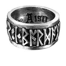 gothic rings men images Runeband ring nordic quot poetry is in battle quot runes by jpeg