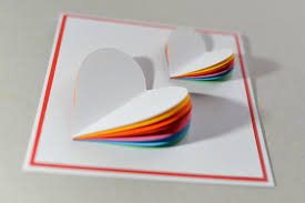 how to make valentine u0027s day card rainbow heart greeting card