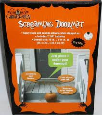 halloween doormat amazon com halloween screaming doormat measures 10x14 patio