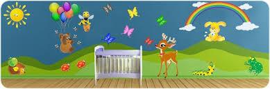 stickers animaux chambre bébé stickers animaux de la ferme de la forêt et de la cagne pour
