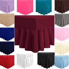 Fitted Valance Sheet Luxury Combed Fitted Poly Cotton Bed Sheets