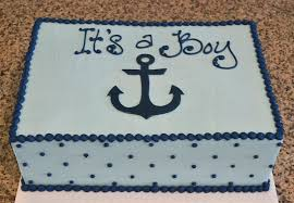 anchor theme baby shower navy theme baby shower 6 inch cake with butter and