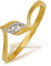 gold rings price images Gorgeous gold rings with price below 6000 south india jewels jpg