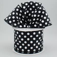 black and white polka dot ribbon 2 5 black satin ribbon with white polka dots 10 yards rt16 270