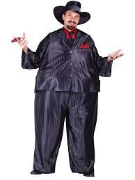 Mafia Halloween Costume Fat Tony Gangster Costume 1085 Fancy Dress Ball