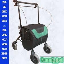 siège bébé caddie rollator deambulateur 4 roues shopiroll avec siege et sacoche pour