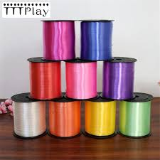 plastic ribbon 250 yards colorful diy balloon ribbon plastic roll birthday party