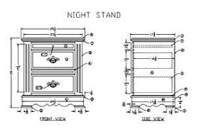 Woodworking Plans Bedside Table by Woodwork Wood Night Stand Plans Pdf Plans