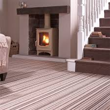 lifestyle floors gloucester stripe and plain wool loop carpet