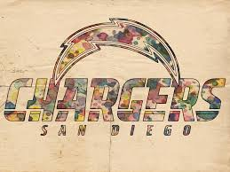 san diego chargers poster vintage painting by florian rodarte