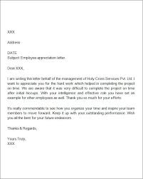 ideas collection thank you letter for employee sample with