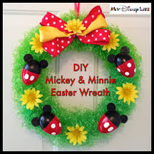 my disney life diy project mickey and minnie easter wreath