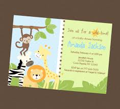 jungle safari baby shower invitations iidaemilia com