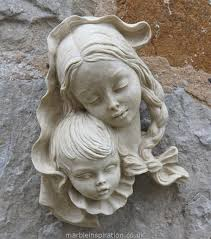 mother and child wall sculpture garden ornaments find body