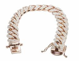chain diamond bracelet images 10k rose gold miami cuban real diamond bracelet 9 1 2 ct 14mm jpg