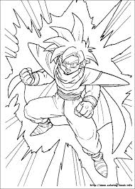 ball z coloring picture