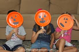 Kids Halloween Poem Pumpkin Face Puppet And Halloween Finger Play Coffee Cups And