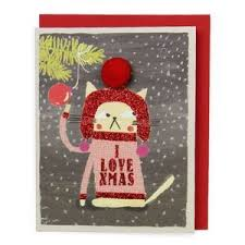 38 best xmas cards images on pinterest xmas cards cat christmas
