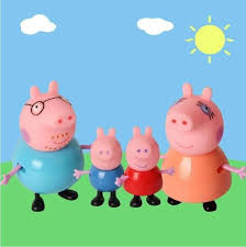 4pcs peppa pig u0026 george mummy daddy plastic toys kids