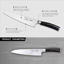 shan zu chef u0027s knife razor sharp 8 u0027 u0027 high carbon german steel full